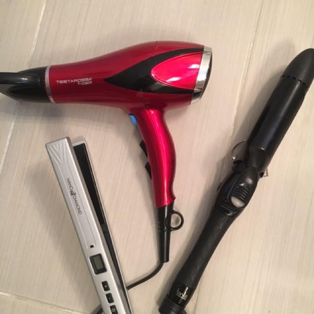 Hair Dryer, Flat Iron, Curler