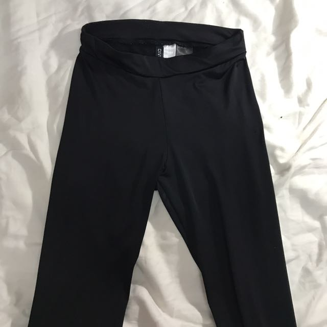 h&m black leggings size xs