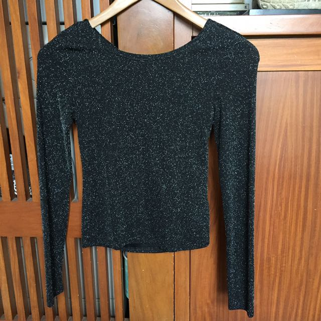 H&M Sparkly Long Sleeved Top