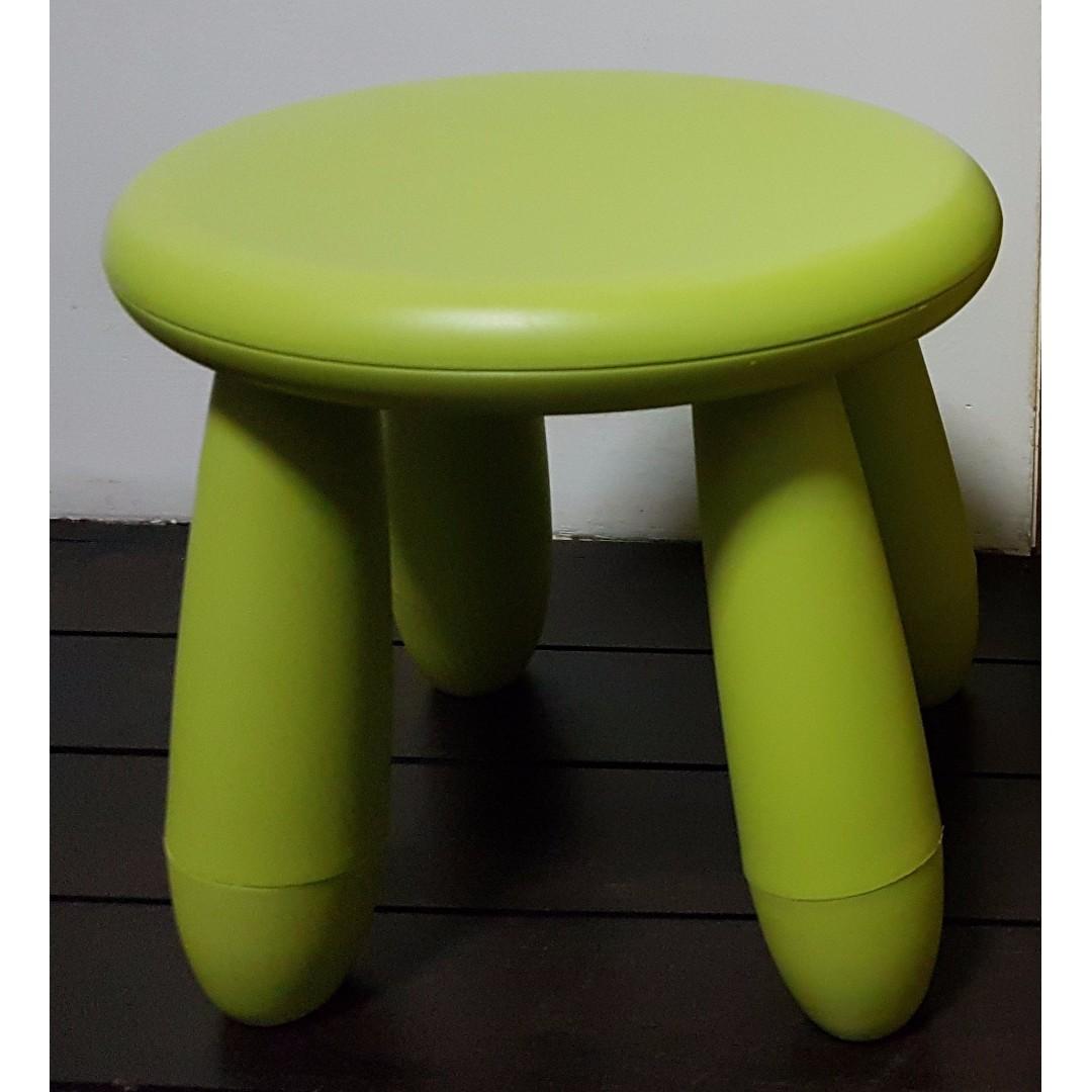 Ikea Mammut Children S Stool Green Home Furniture Furniture  # Muebles Mammut Ikea