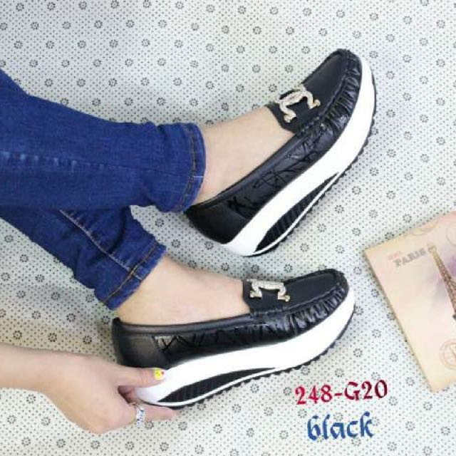 Import Hongkong Shoes Black Sz 39