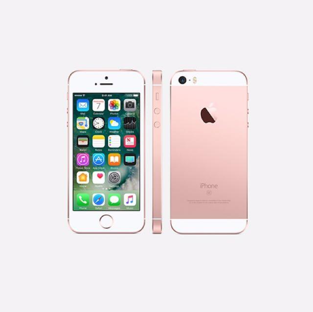 二手 iphone se 16g 玫瑰金 外觀無傷