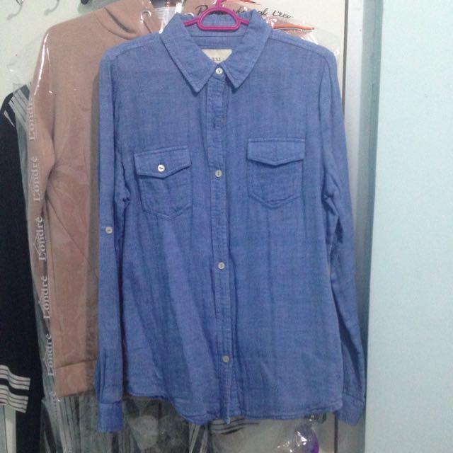 Kemeja Jeans Forever 21