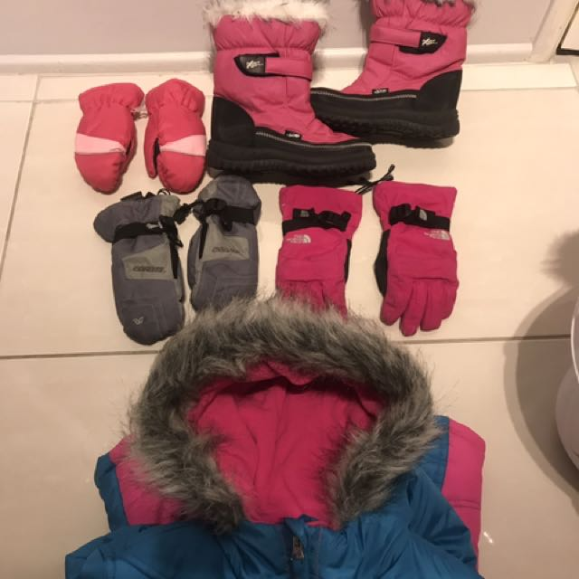Kids Ski Clothing Boots And Gloves
