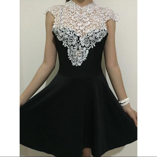 Lace B&W Dress