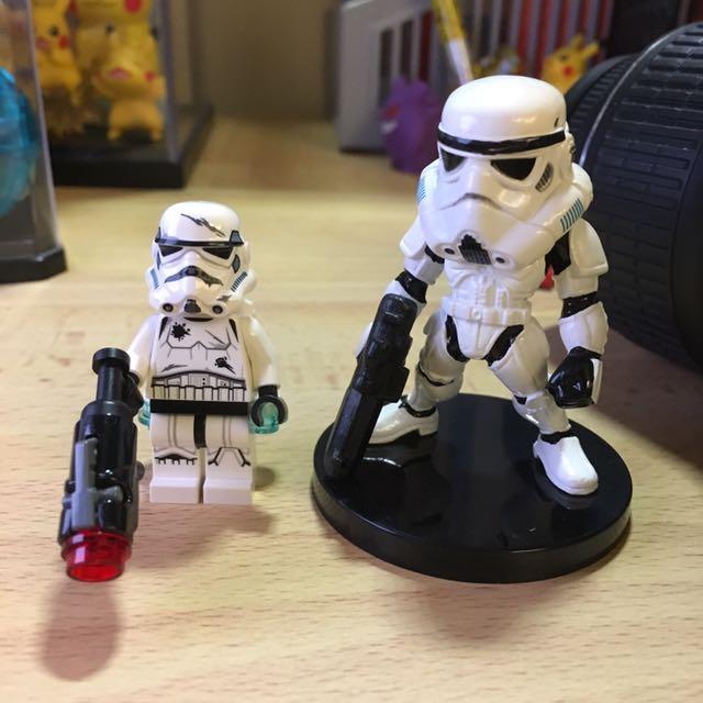 正版樂高LEGO 白兵 + 盒玩白兵