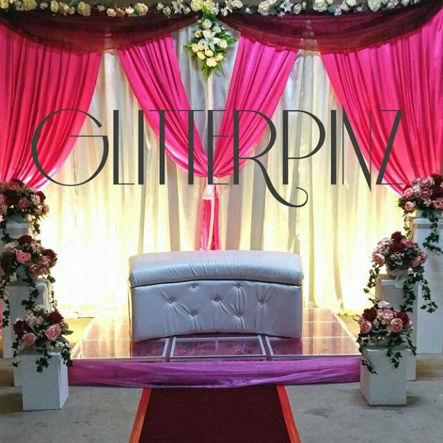 Malay Wedding Engagement Decor Pelamin Or Dais Gift Trays