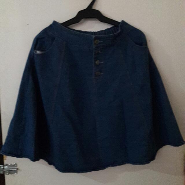 Maong Skirt Garterized