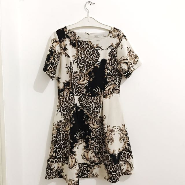 Minimal Leopard Pattern Dress (ORI)