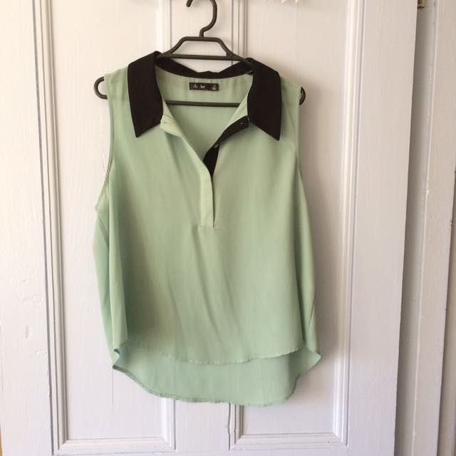 Mint Collared Singlet