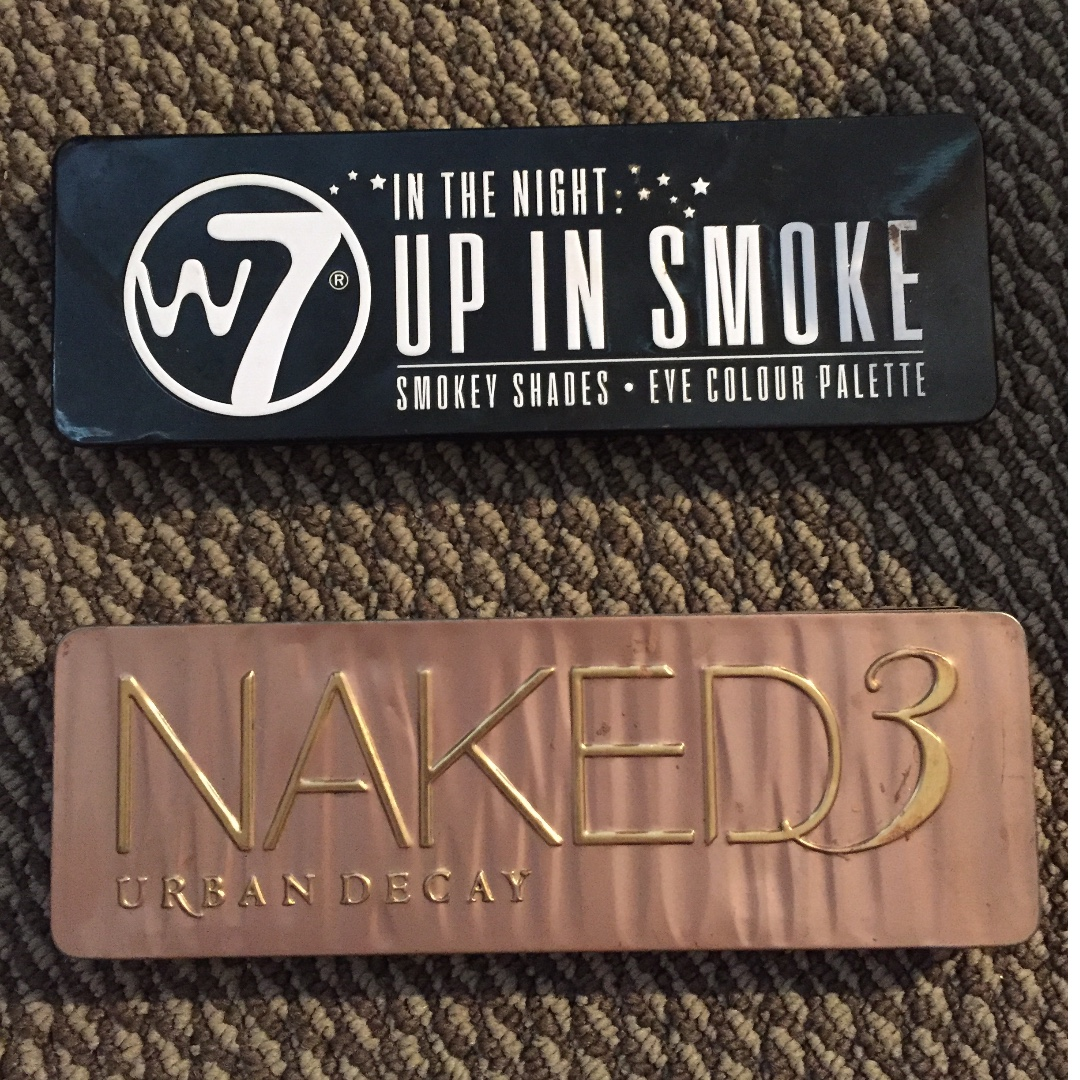 NAKED 3 and W7 eyeshadow palettes