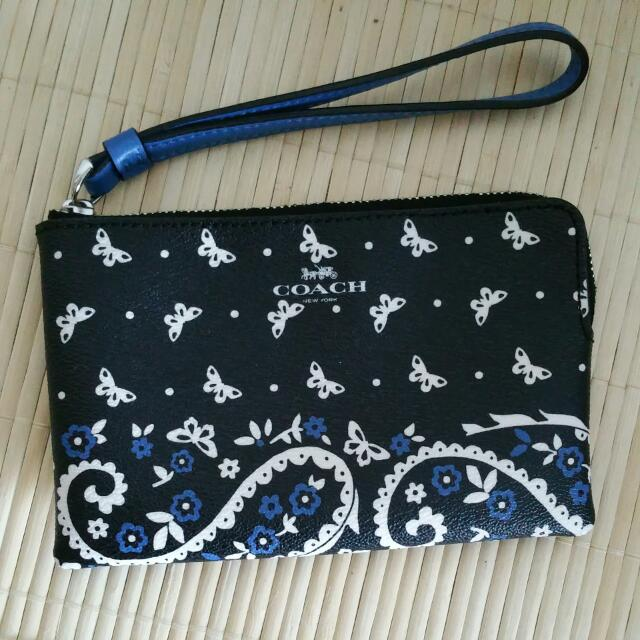 NEW Coach Butterfly Wallet Wristlet