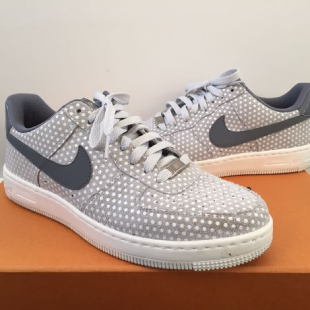 Nike Airforce Low Grey with Dots Womens US 8.5 EUR 40