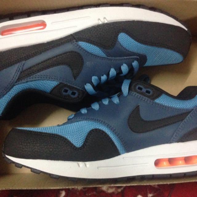 timeless design 7fe67 aa463 Nike Airmax 1 Essential Stratus Blue Uk7.5, Men's Fashion, Footwear ...