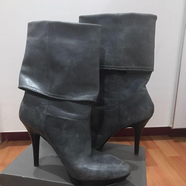 Nine West Heels Boots (grey)