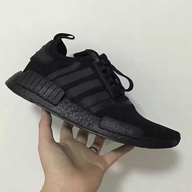 more photos fa824 6eb96 NMD Full Black, Men's Fashion, Footwear on Carousell