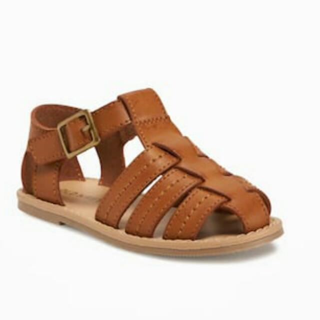 OLD NAVY Faux Leather Fisherman Sandals
