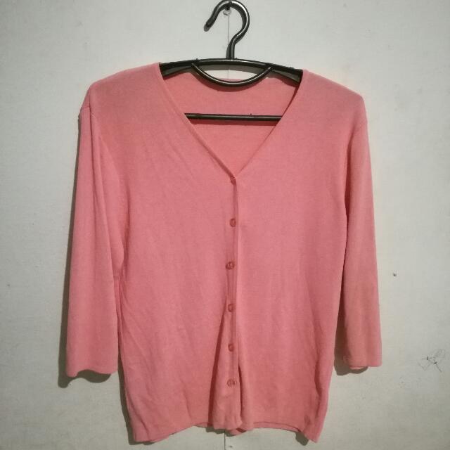 Pink Cardigan 3/4 Sleeves