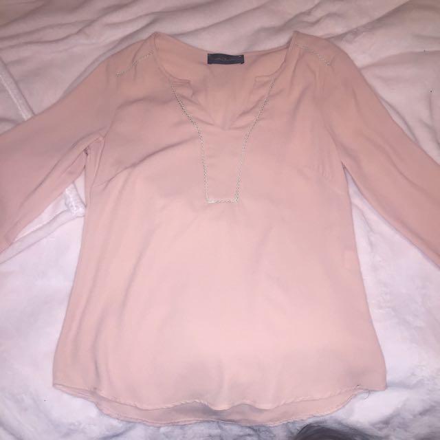 Pink Long Sleeve Dress Shirt