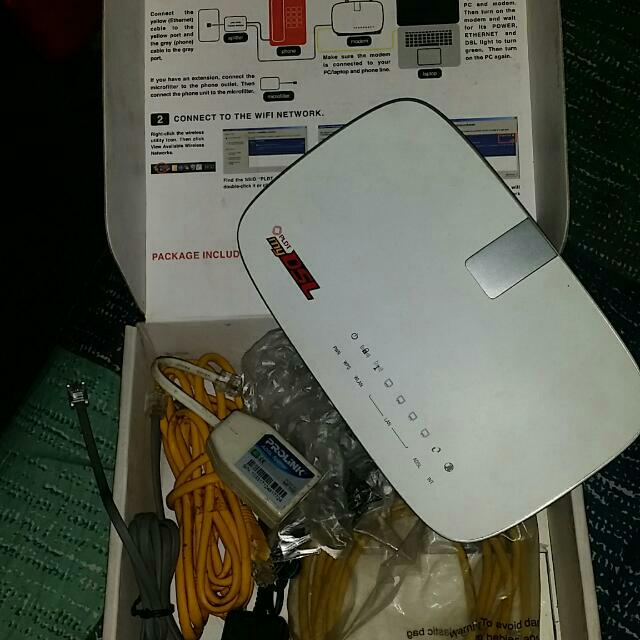 PLDT DSL WIFI ROUTER PROLINK