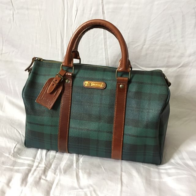 Polo Ralph Lauren Speedy Bag Tartan Green 82626ecf04bdc