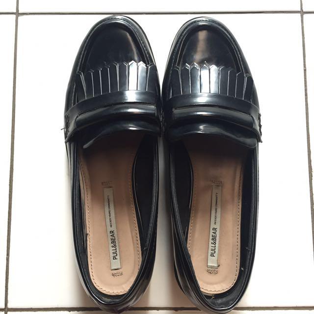 Pull & Bear Black Loafers Platform