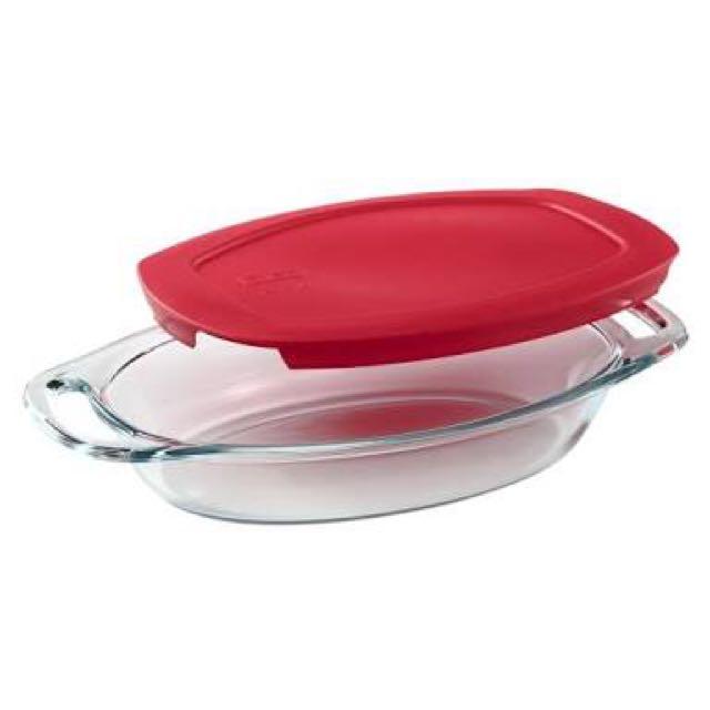 REPRICED!!Original!! Pyrex Oval Glass Storage