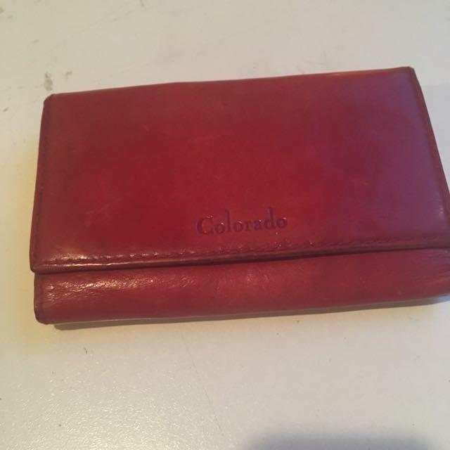 Red Vintage Colorado Wallet