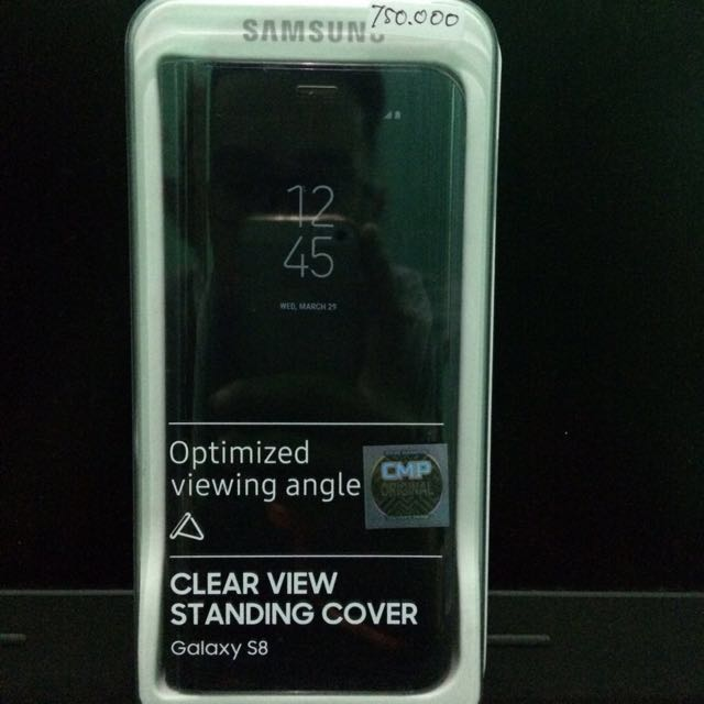 Samsung S8 Clear View Standing Cover Case