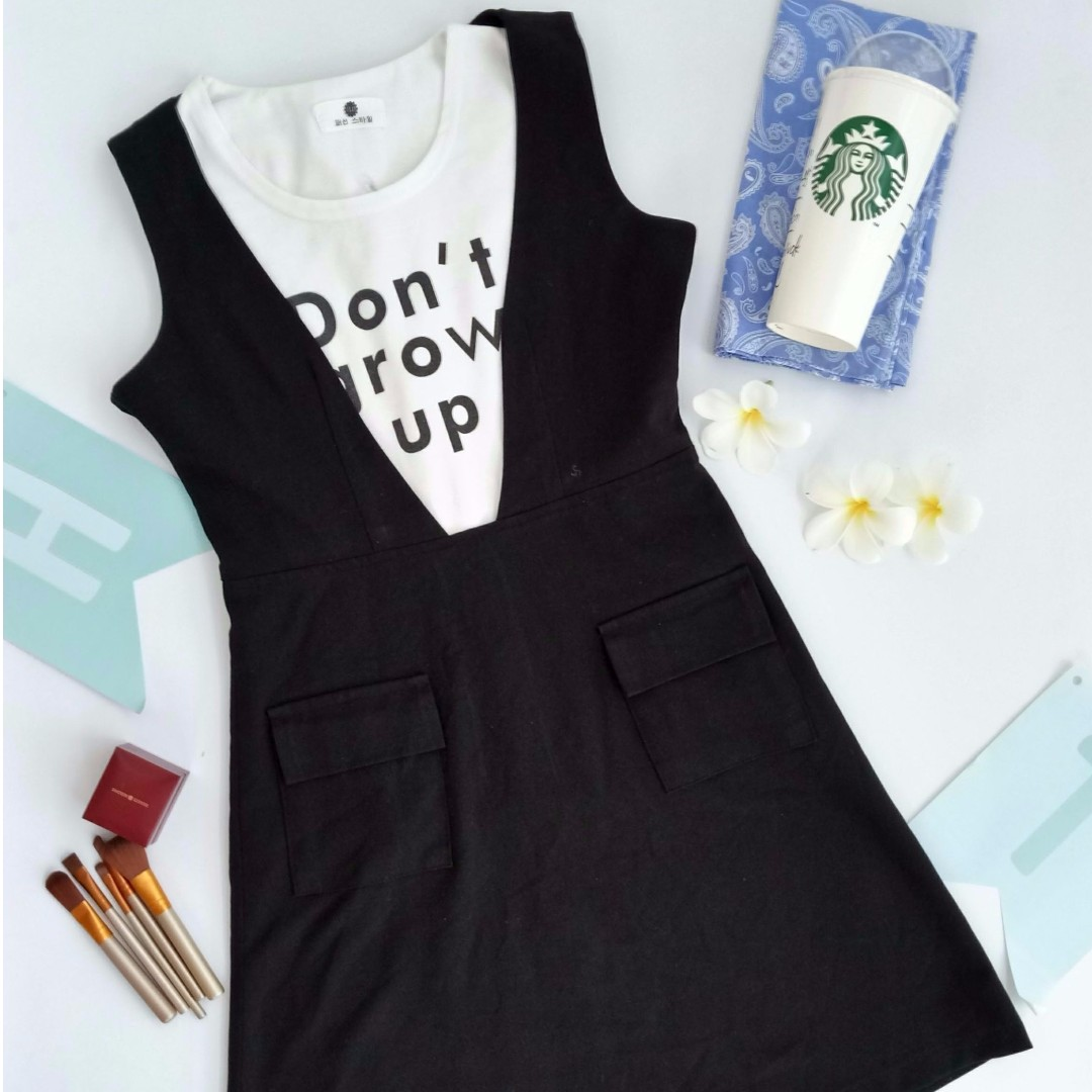 Set black dress and top sleeveless