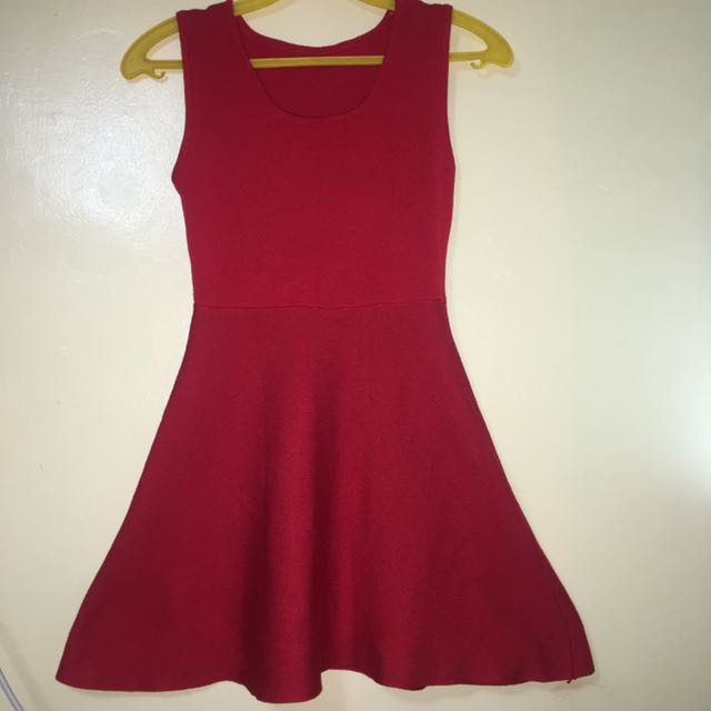 Simple Red Dress (Knitted)