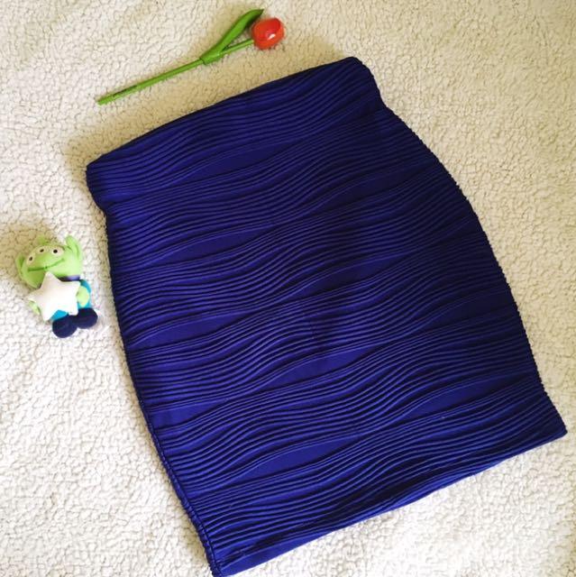 Soiree Blue Bandage Skirt