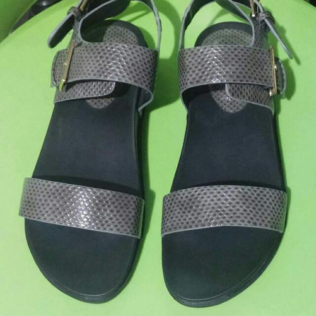 Something Borrowed Snakeskin Patent Sandals