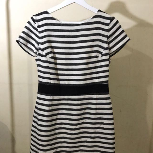 Stripes Party Dress OASIS