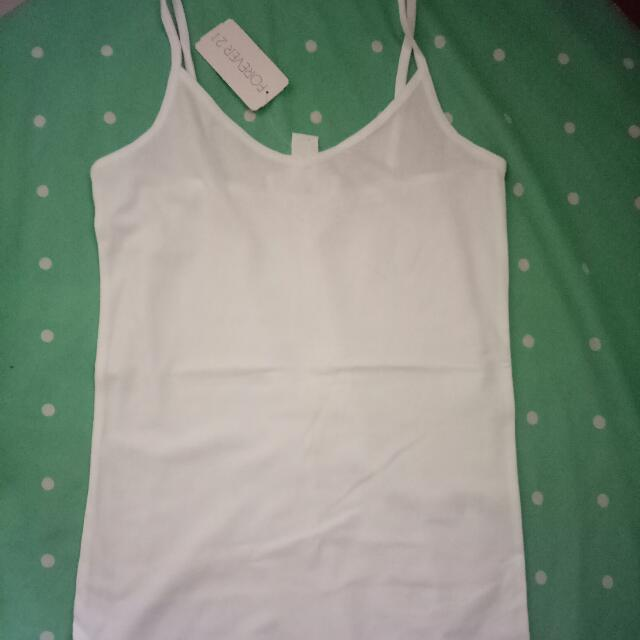 Tank Top White Forever 21