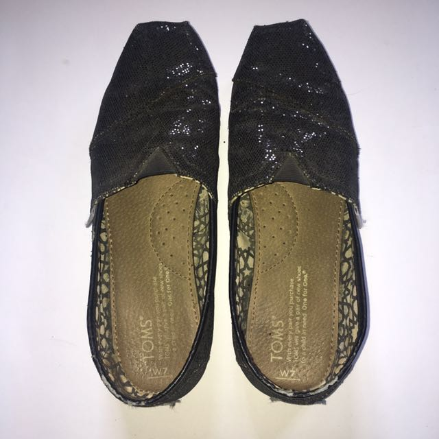 Toms Shiny Black