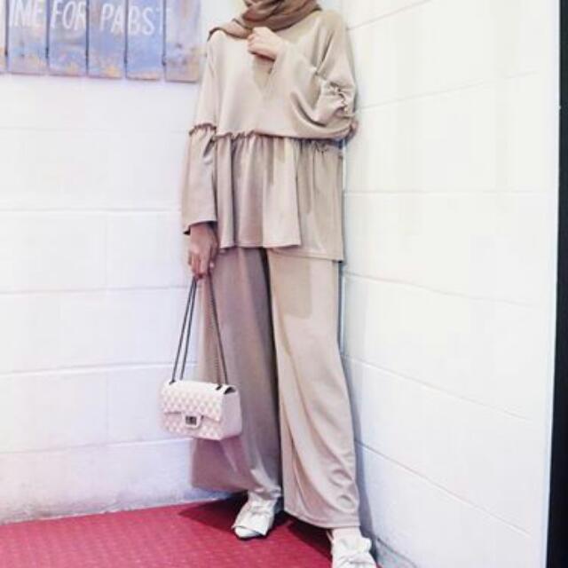 Top + Kulot All Size Baju Muslimah
