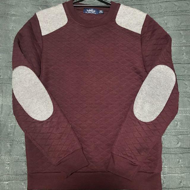 Topman Sweater Burgundy