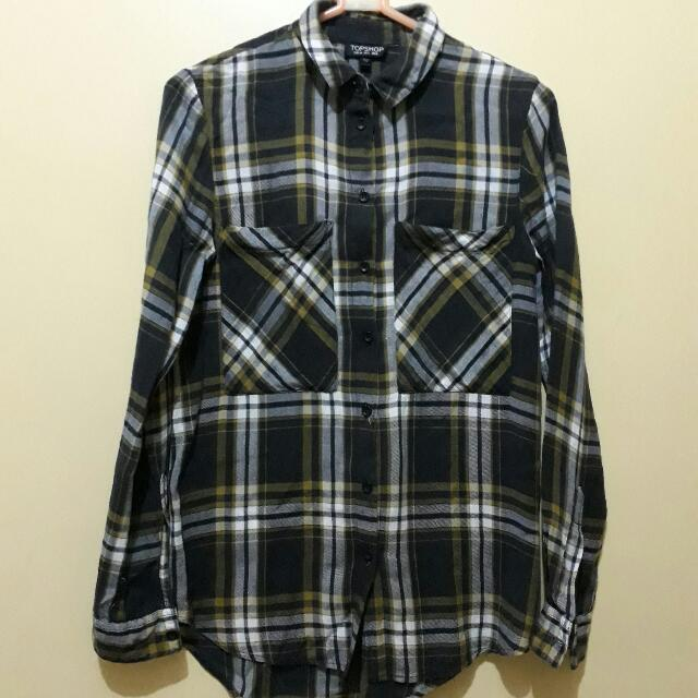 Topshop Checkered LS Shirt