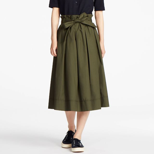 aa0d2c9675 Uniqlo High Waist Belted Flare Midi Skirt, Women's Fashion, Clothes,  Dresses & Skirts on Carousell