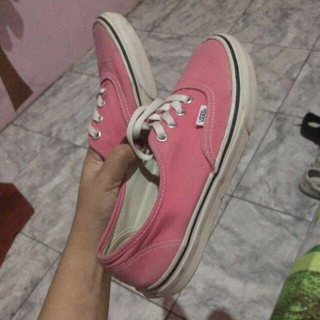 vans authentic pink original, Fesyen