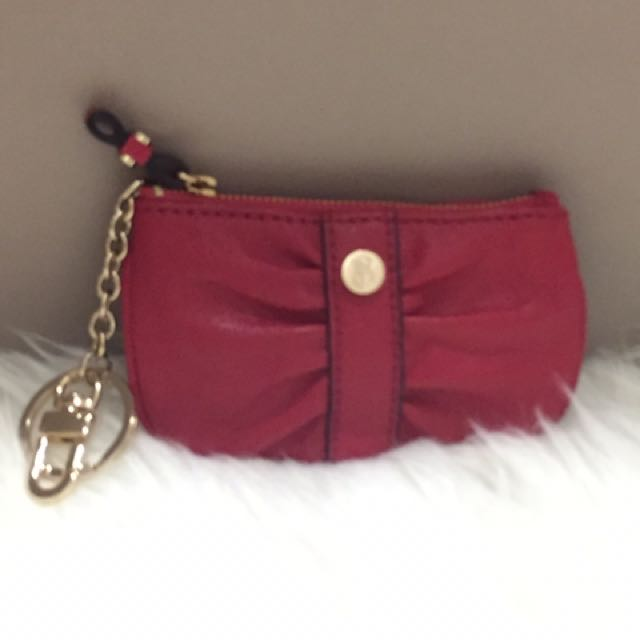 Victoria Secret Leather Key Ring Coin Purse