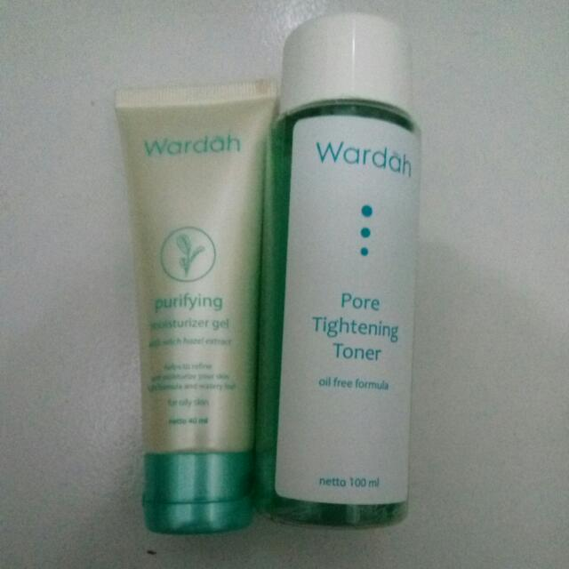 Wardah Pore Tightening Toner N Purifying Moisturizer Gel