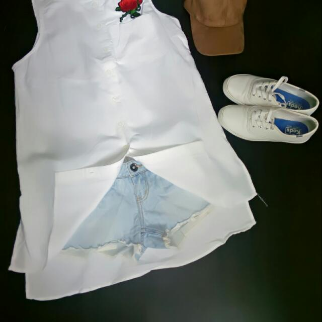 White Cotton Boyfriend Shirt