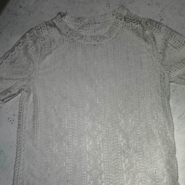 White kikay lace blouse