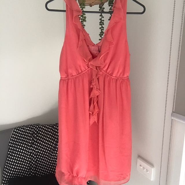 Wish Brand Coral Babydoll Dress