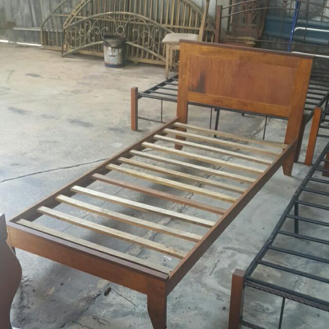 Wooden Single Bed Katil Bujang Kayu Home Furniture On Carou