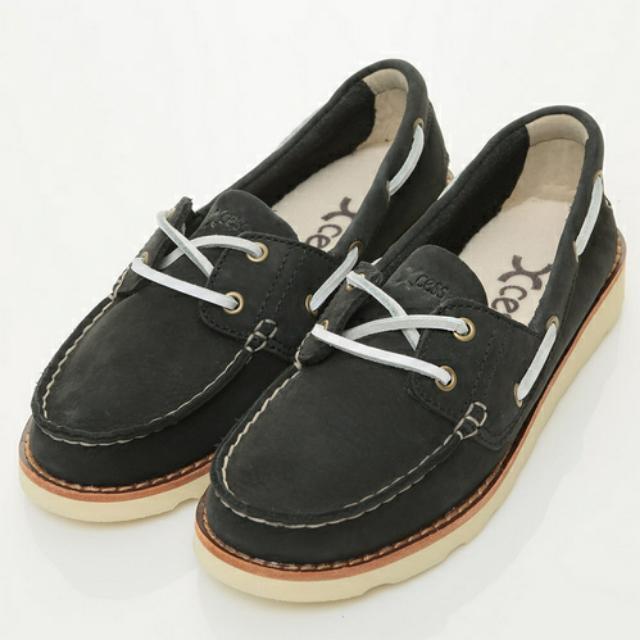 XCESS 經典黑色帆船鞋