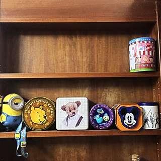 各式各樣造型鐵盒(迪士尼餅乾盒)