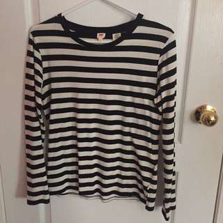 Striped Levi's Long Sleeve Top
